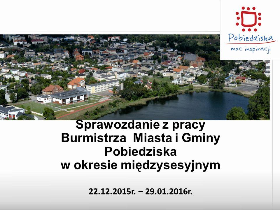 Sprawozdanie z pracy Burmistrza Miasta i Gminy Pobiedziska w okresie międzysesyjnym