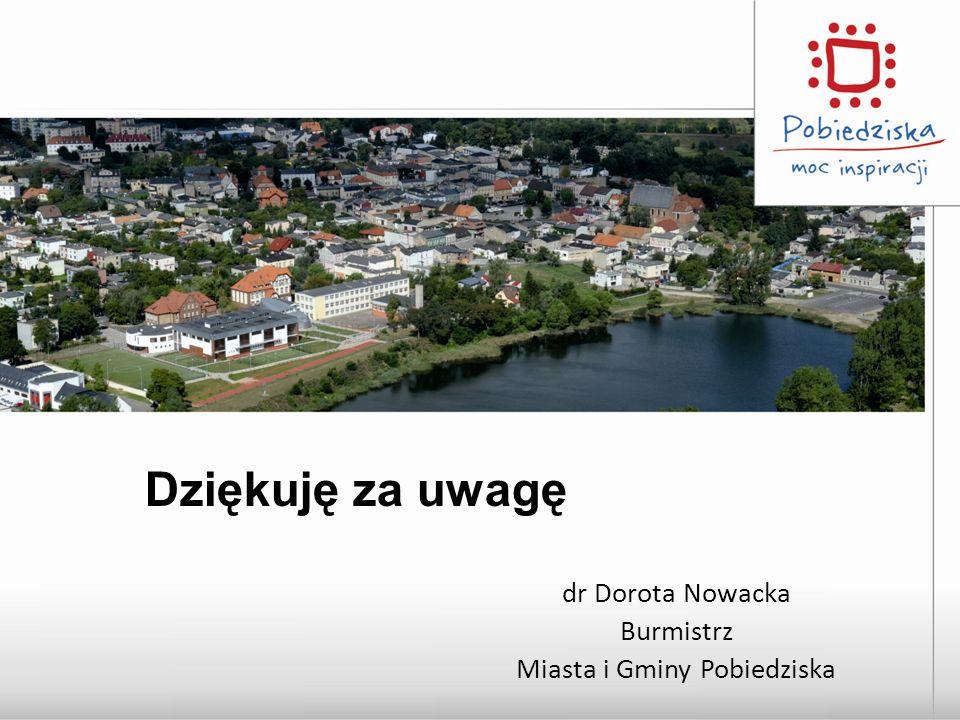 dr Dorota Nowacka Burmistrz Miasta i Gminy Pobiedziska