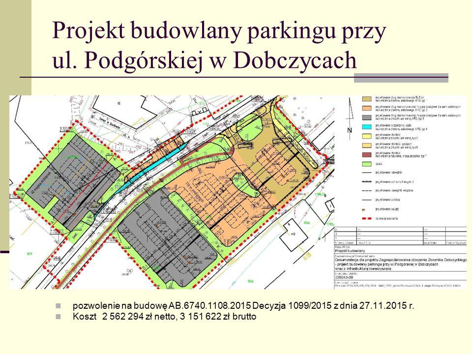 Projekt budowlany parkingu przy ul. Podgórskiej w Dobczycach