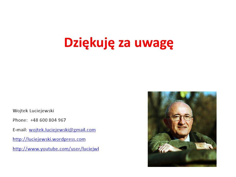 Dziękuję za uwagę Wojtek Luciejewski Phone: +48 600 804 967