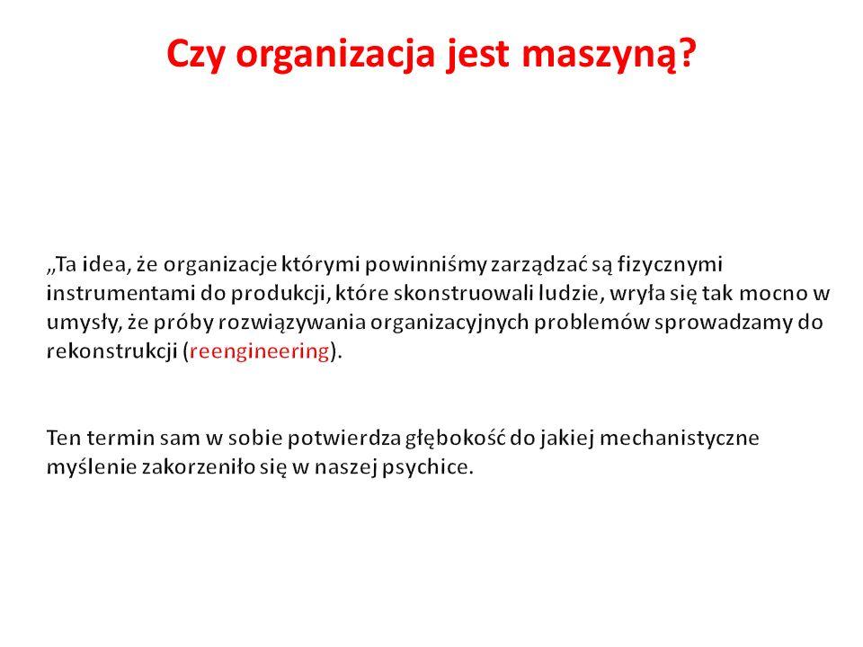 Czy organizacja jest maszyną
