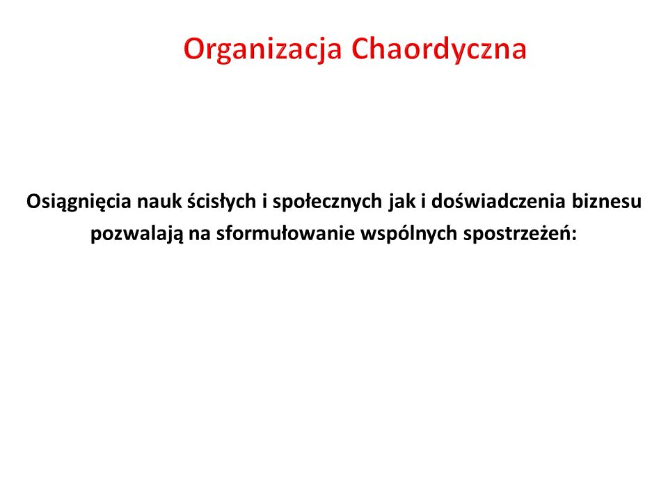 Organizacja Chaordyczna