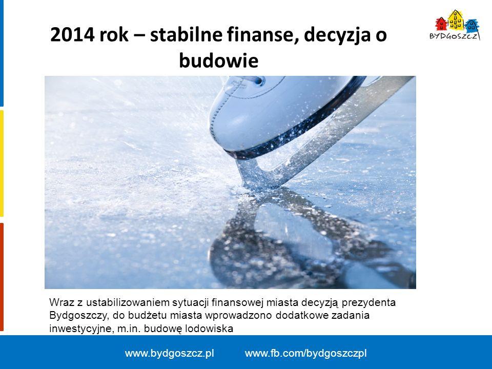 2014 rok – stabilne finanse, decyzja o budowie