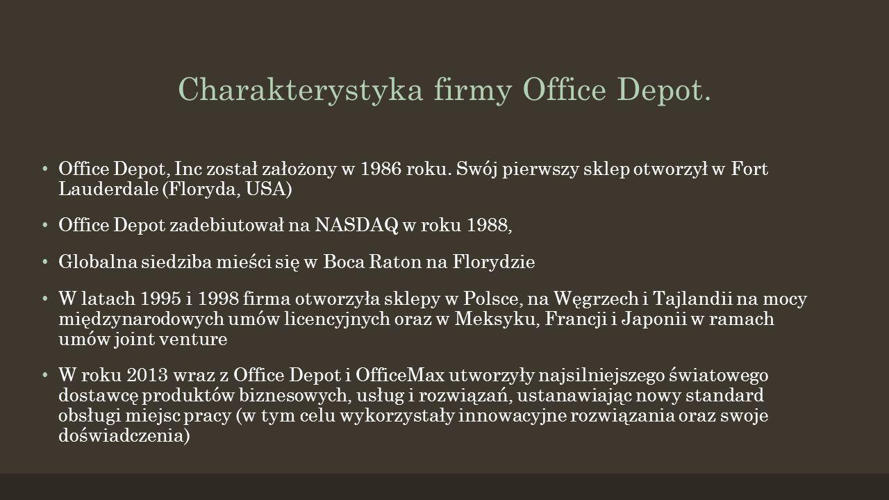 Charakterystyka firmy Office Depot.