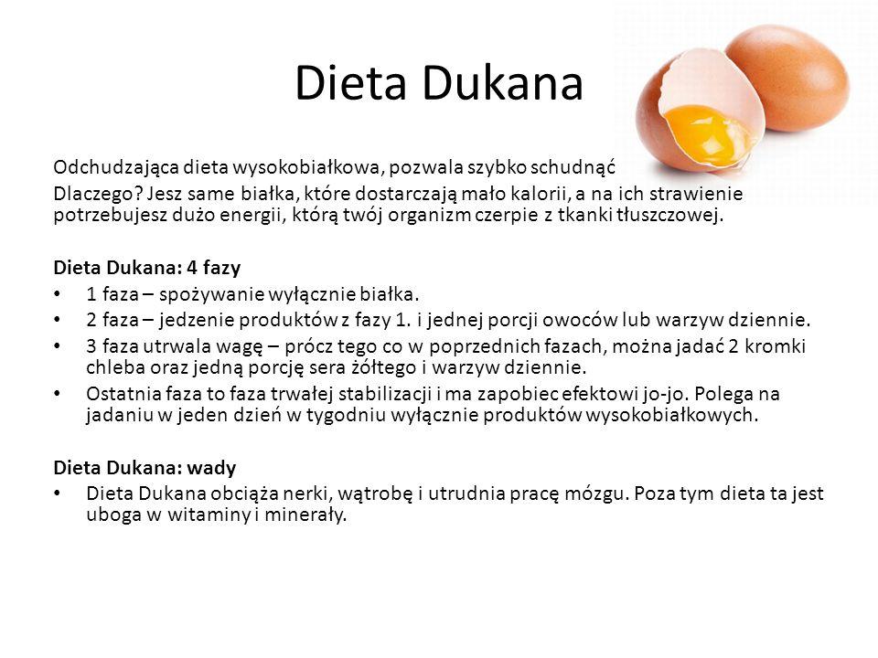 Dieta Dukana Odchudzająca dieta wysokobiałkowa, pozwala szybko schudnąć.