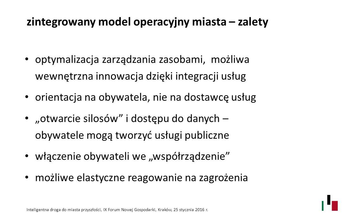 zintegrowany model operacyjny miasta – zalety