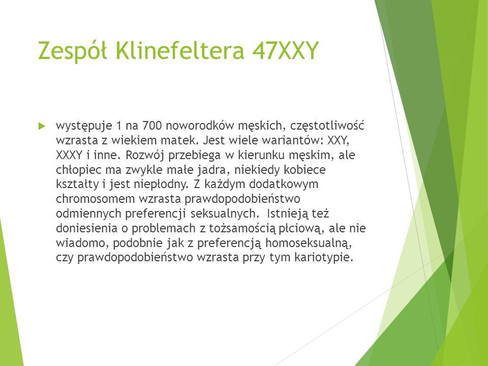 Zespół Klinefeltera 47XXY