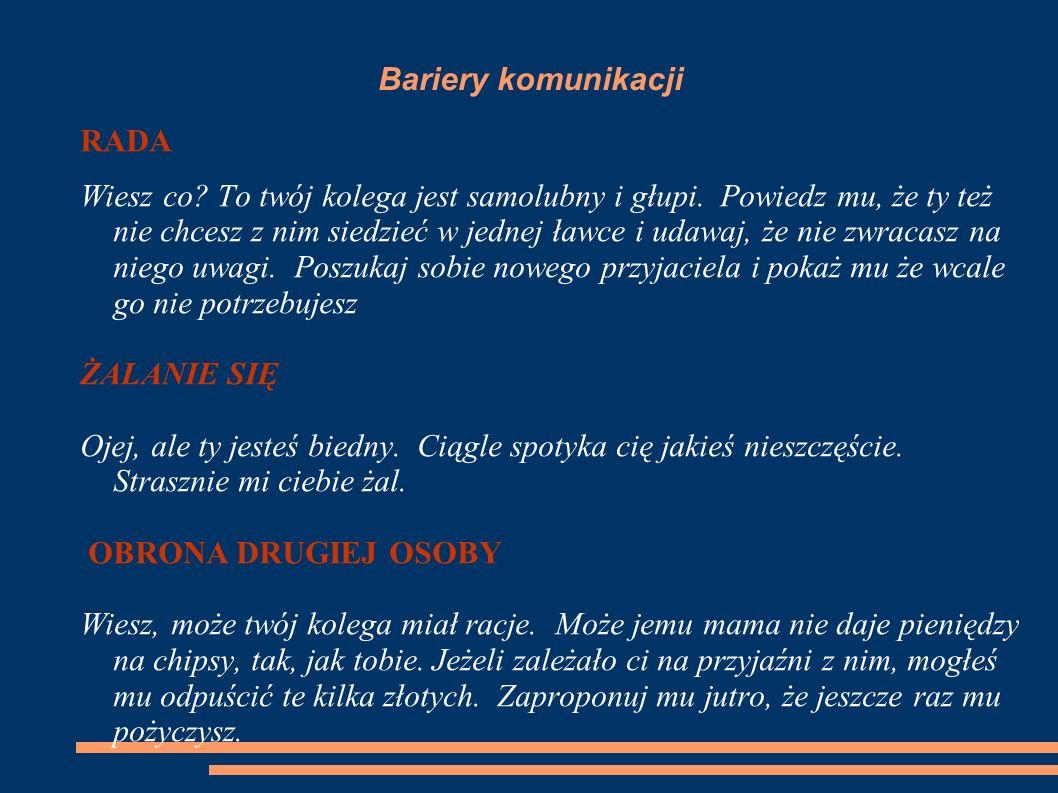 Bariery komunikacji RADA.