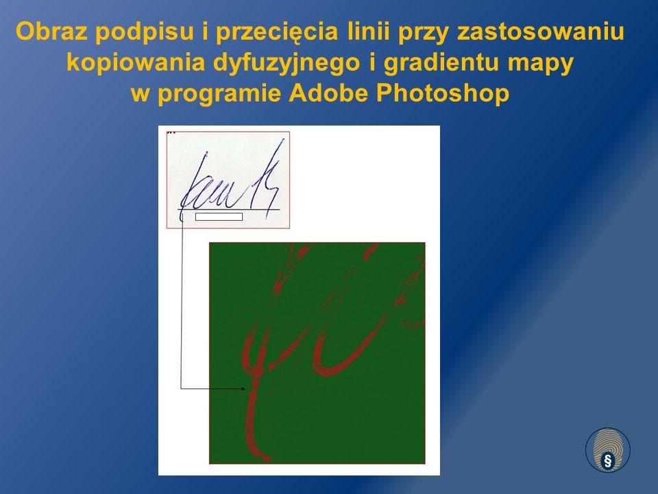 Obraz podpisu i przecięcia linii przy zastosowaniu kopiowania dyfuzyjnego i gradientu mapy w programie Adobe Photoshop