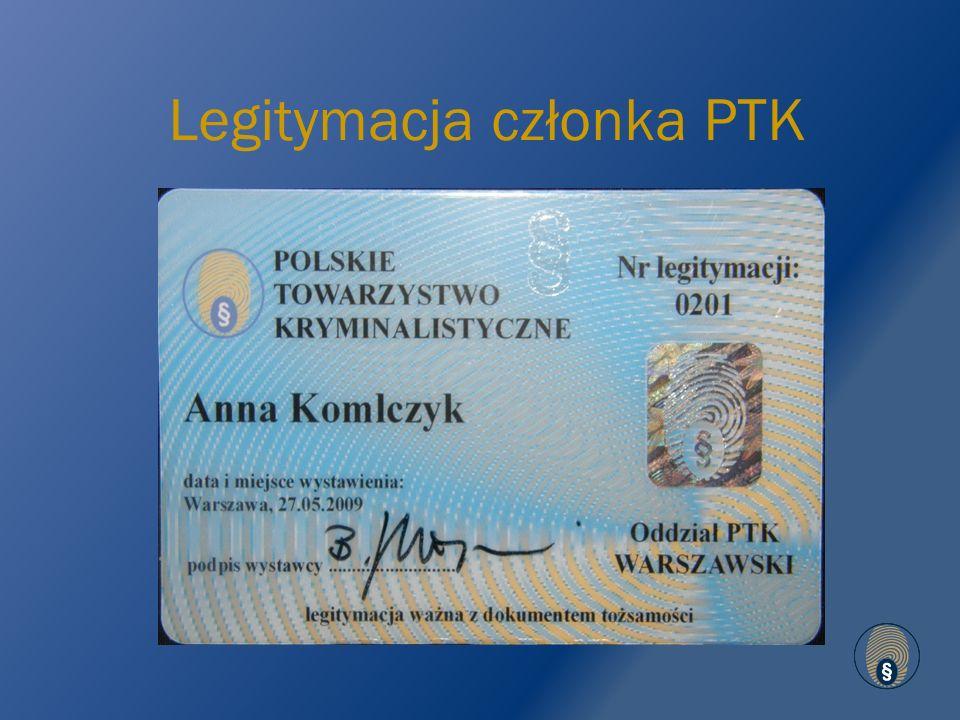Legitymacja członka PTK
