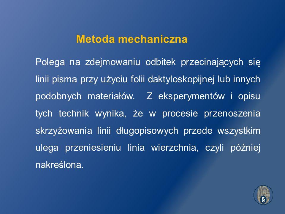 Metoda mechaniczna