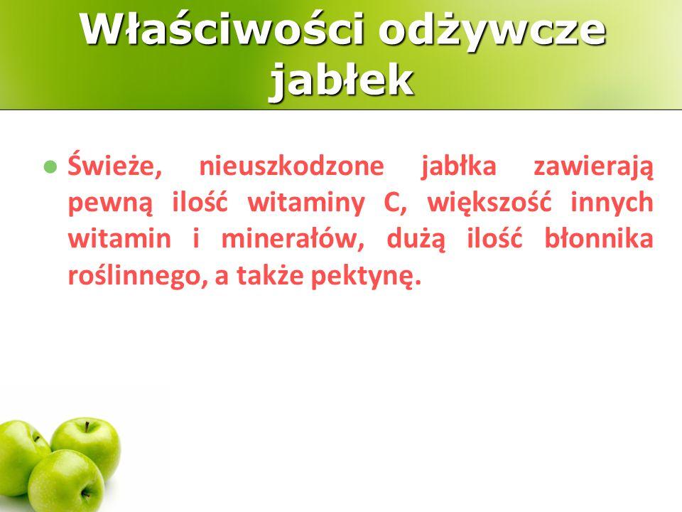 Właściwości odżywcze jabłek
