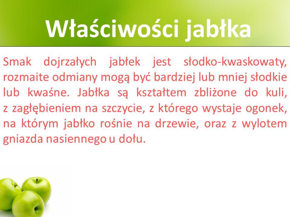 Właściwości jabłka