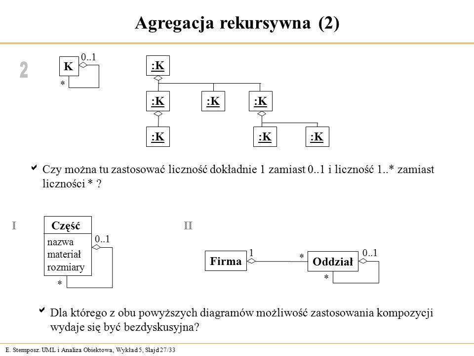 Agregacja rekursywna (2)