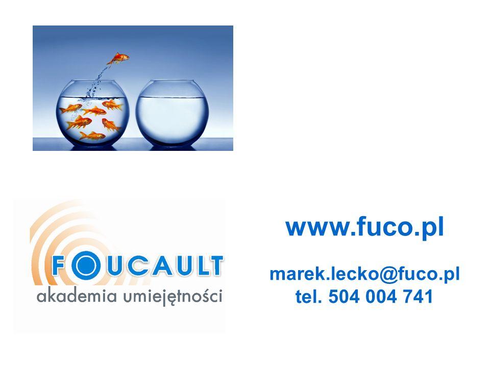 www.fuco.pl marek.lecko@fuco.pl tel. 504 004 741 8