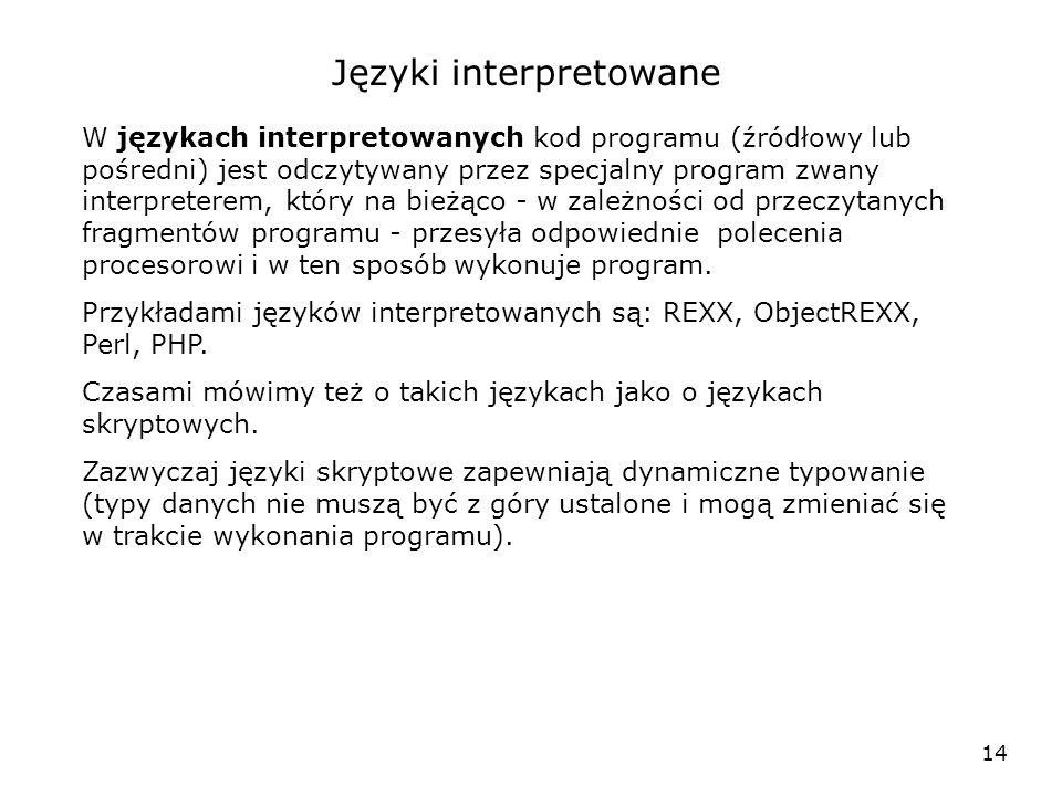 Języki interpretowane