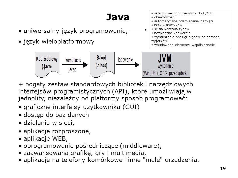 Java uniwersalny język programowania, język wieloplatformowy