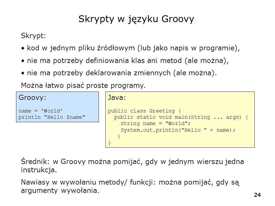 Skrypty w języku Groovy