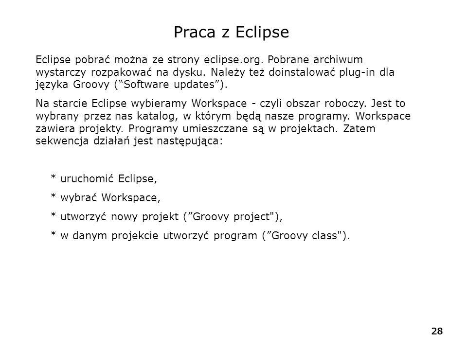 Praca z Eclipse