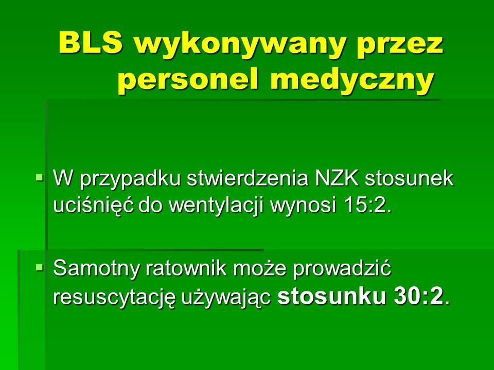 BLS wykonywany przez personel medyczny