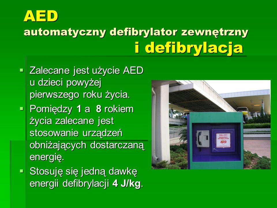AED automatyczny defibrylator zewnętrzny i defibrylacja