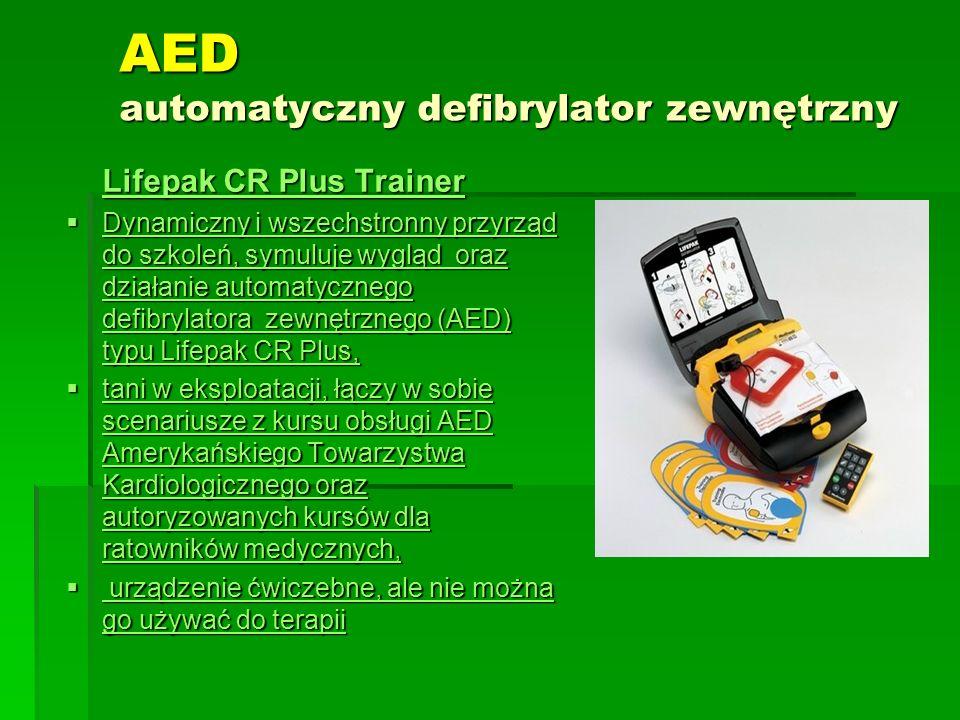 AED automatyczny defibrylator zewnętrzny
