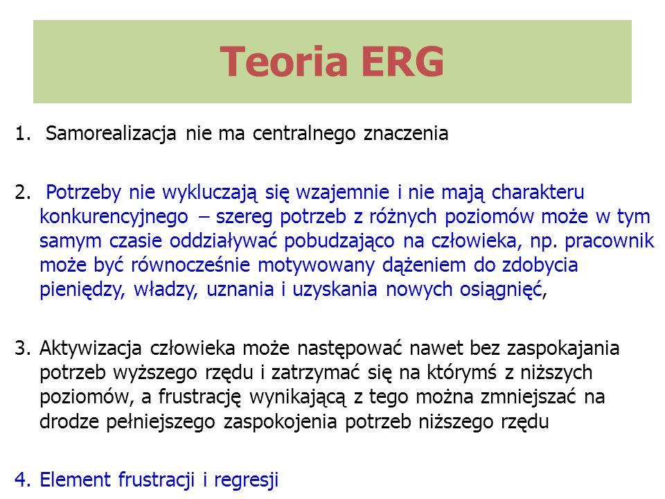 Teoria ERG Samorealizacja nie ma centralnego znaczenia
