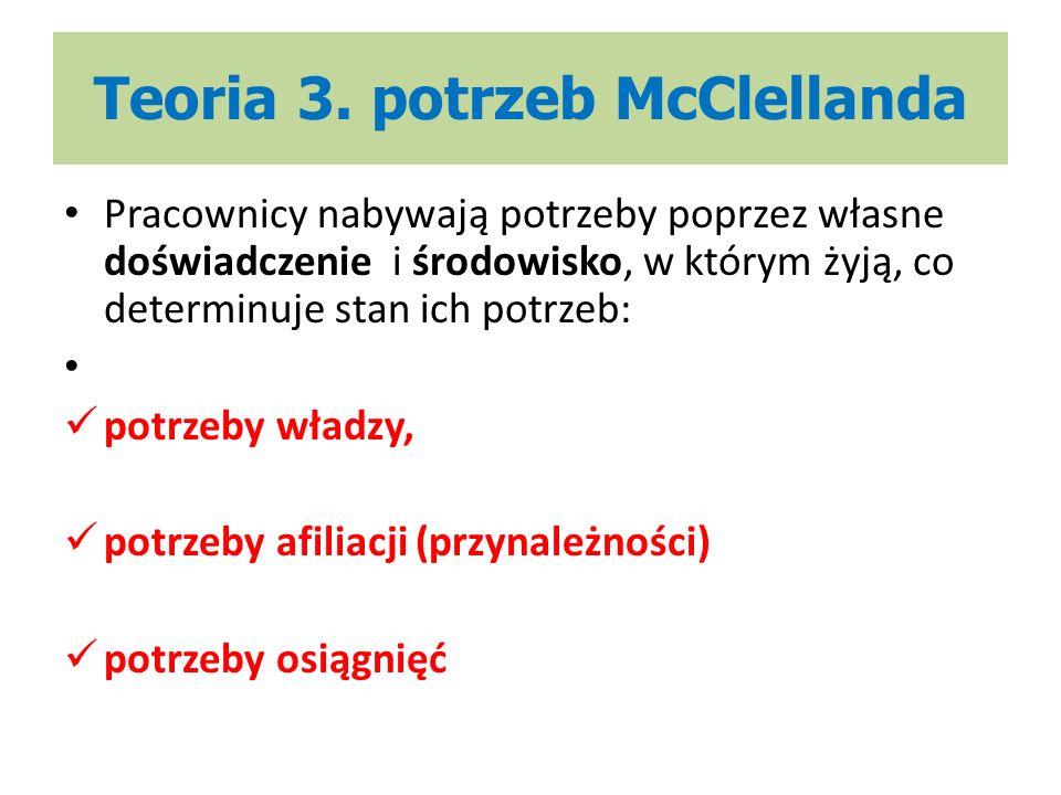 Teoria 3. potrzeb McClellanda