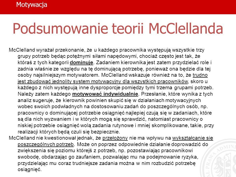 Podsumowanie teorii McClellanda