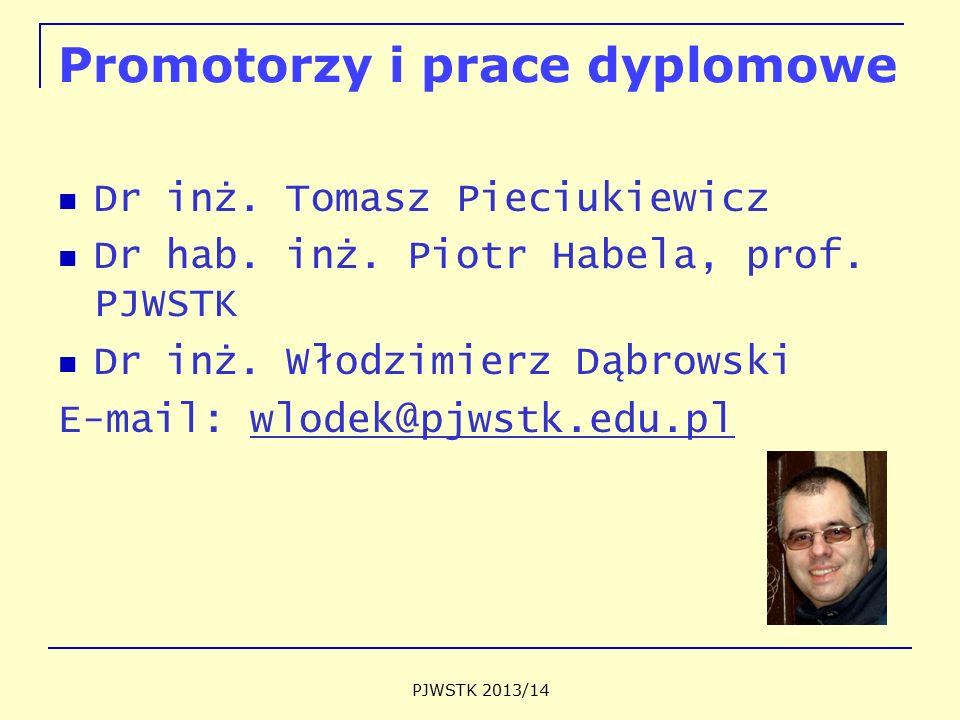 Promotorzy i prace dyplomowe