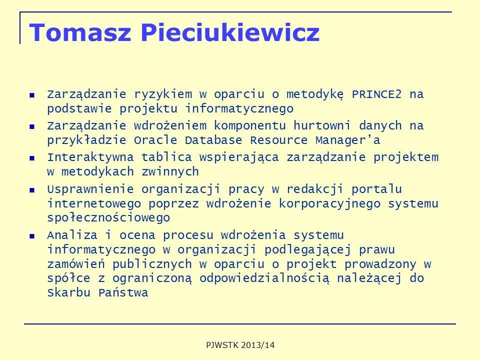 Tomasz Pieciukiewicz Zarządzanie ryzykiem w oparciu o metodykę PRINCE2 na podstawie projektu informatycznego.