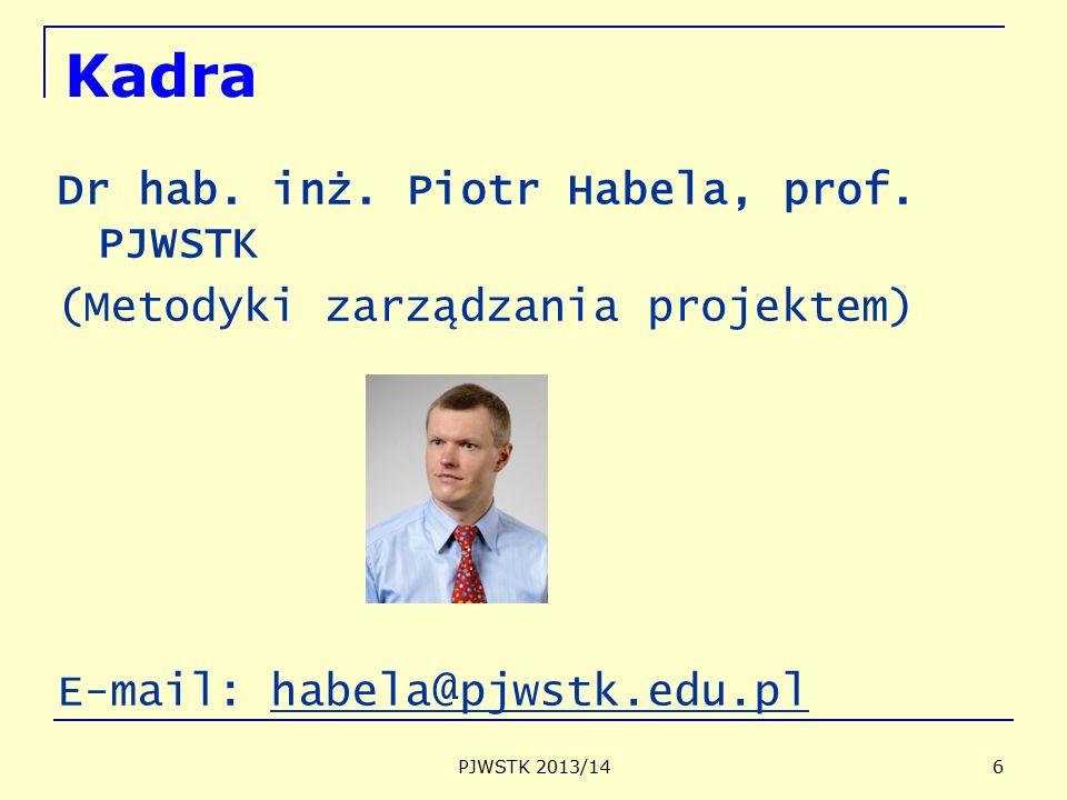 Kadra Dr hab. inż. Piotr Habela, prof. PJWSTK