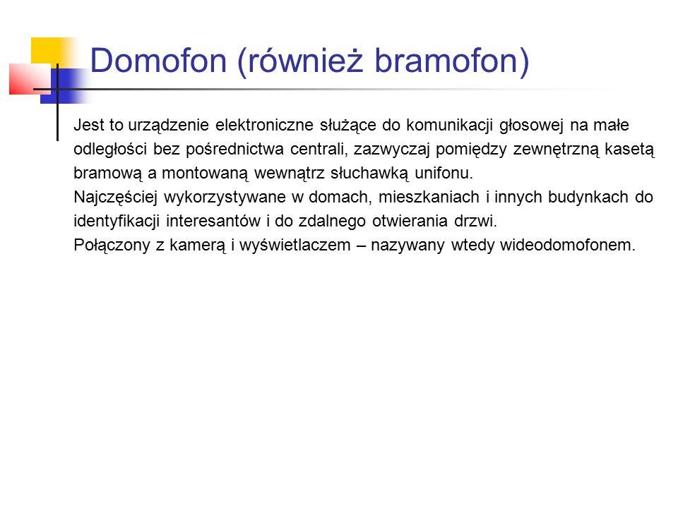 Domofon (również bramofon)