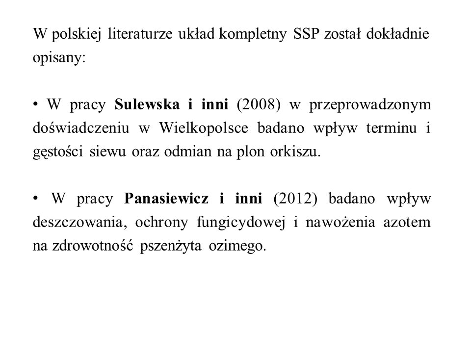 W polskiej literaturze układ kompletny SSP został dokładnie opisany: