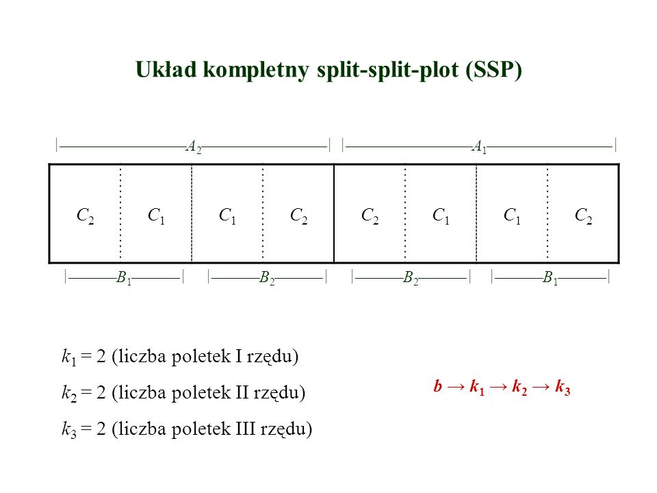 Układ kompletny split-split-plot (SSP)