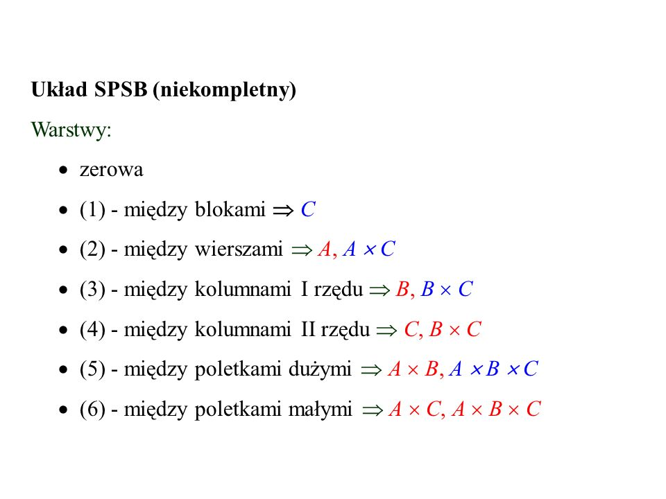 Układ SPSB (niekompletny)