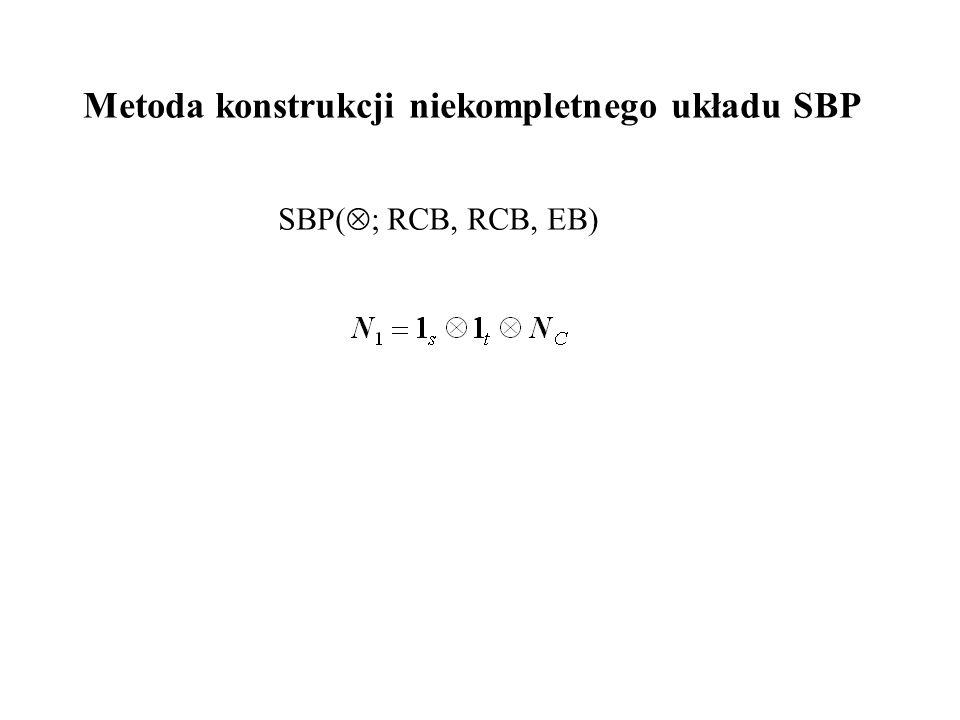 Metoda konstrukcji niekompletnego układu SBP