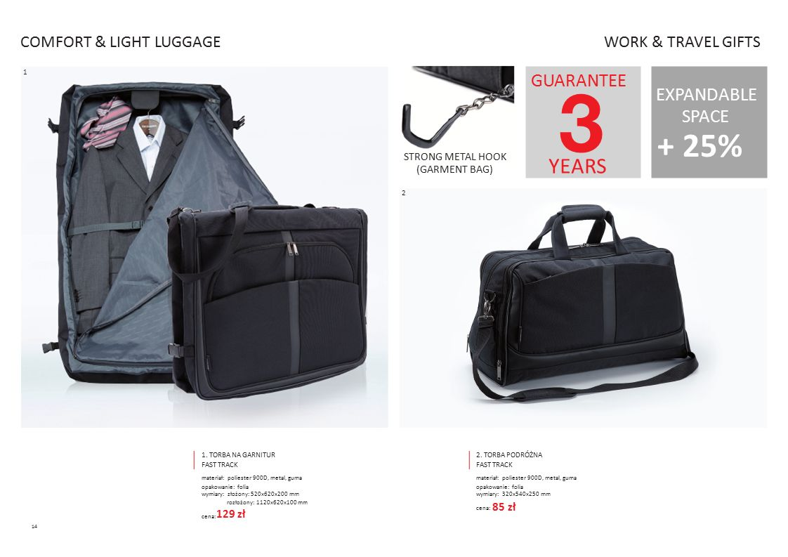 + 25% YEARS GUARANTEE EXPANDABLE COMFORT & LIGHT LUGGAGE