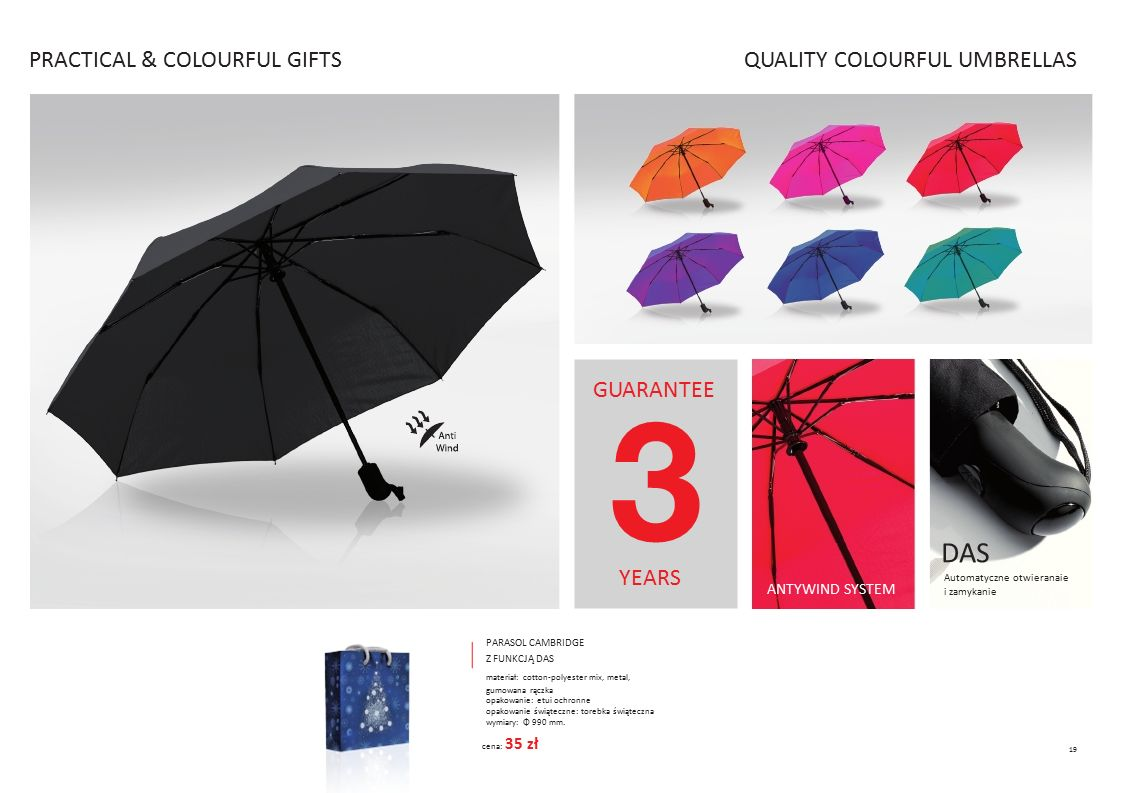 DAS PRACTICAL & COLOURFUL GIFTS QUALITY COLOURFUL UMBRELLAS GUARANTEE