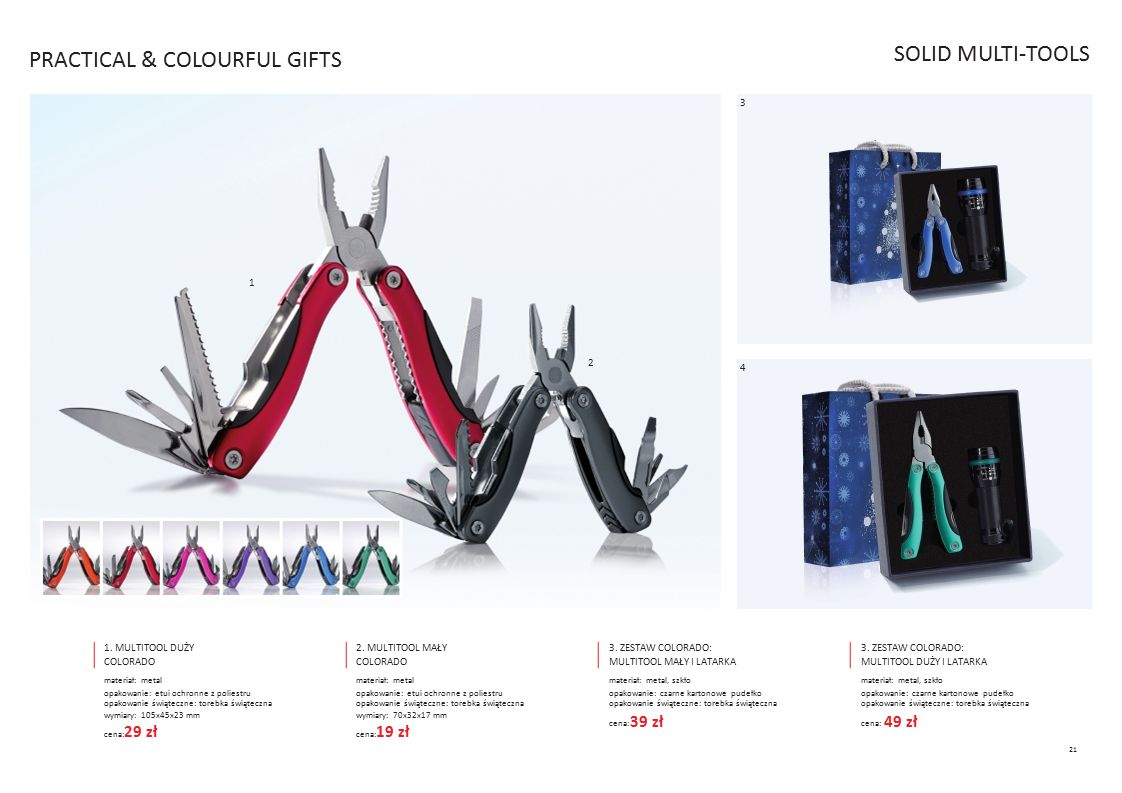PRACTICAL & COLOURFUL GIFTS SOLID MULTI-TOOLS
