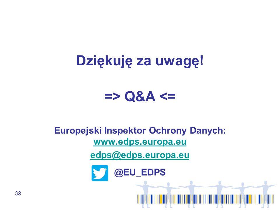 Europejski Inspektor Ochrony Danych: www.edps.europa.eu