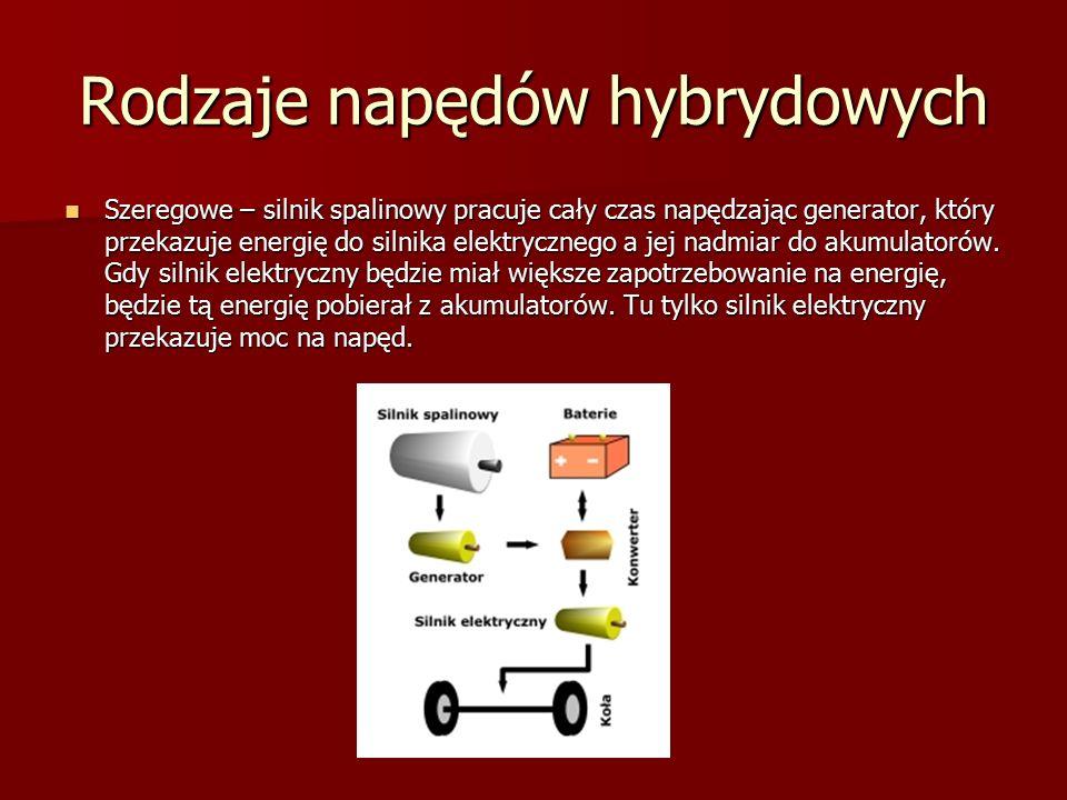 Rodzaje napędów hybrydowych