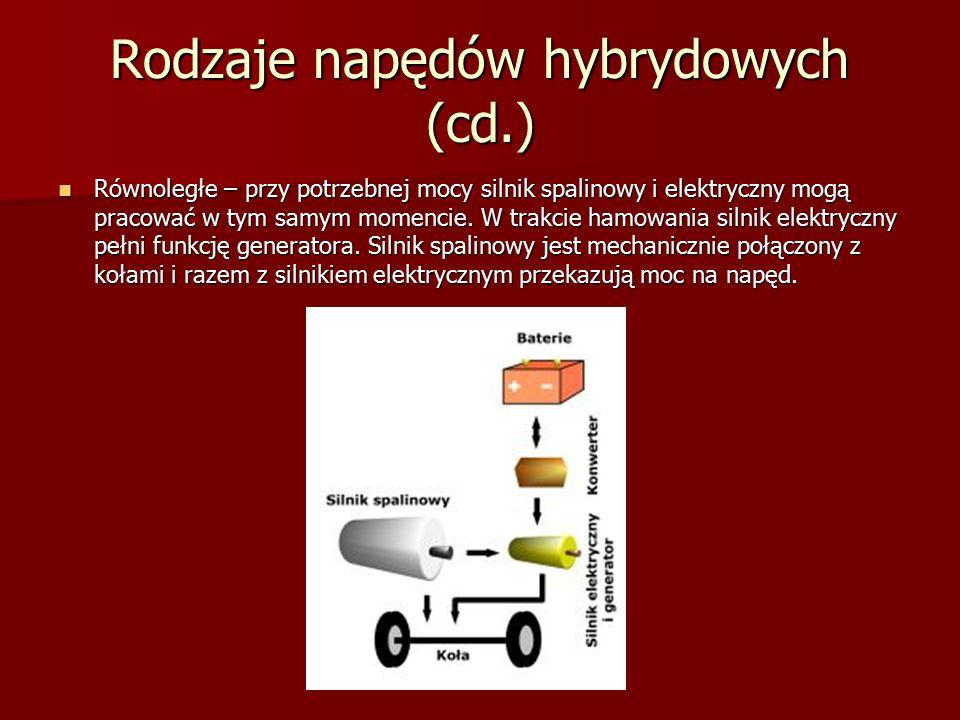 Rodzaje napędów hybrydowych (cd.)