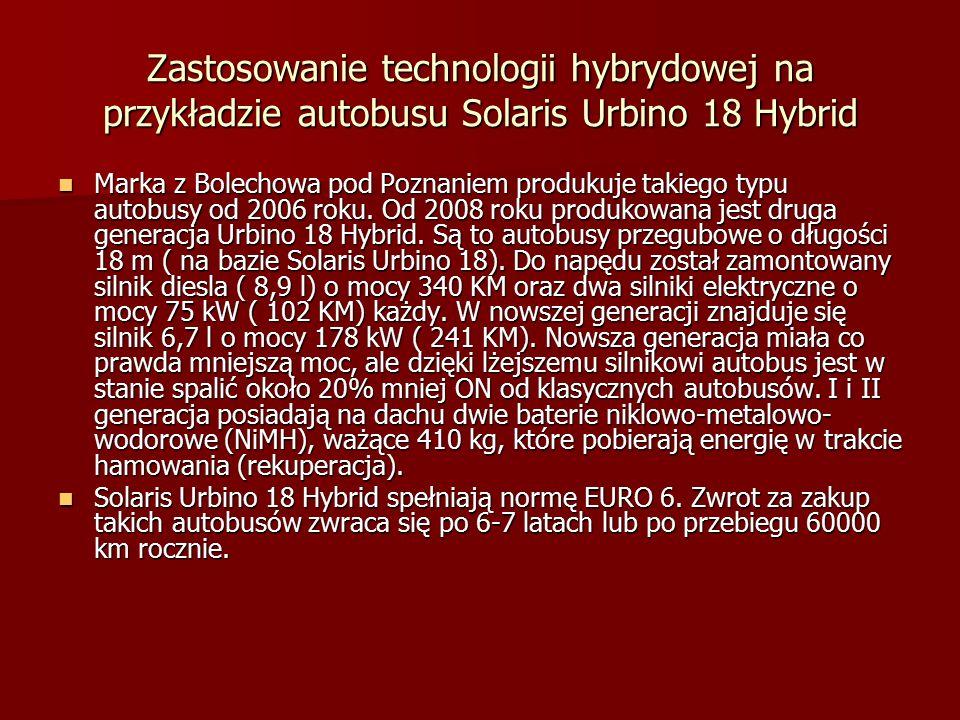 Zastosowanie technologii hybrydowej na przykładzie autobusu Solaris Urbino 18 Hybrid