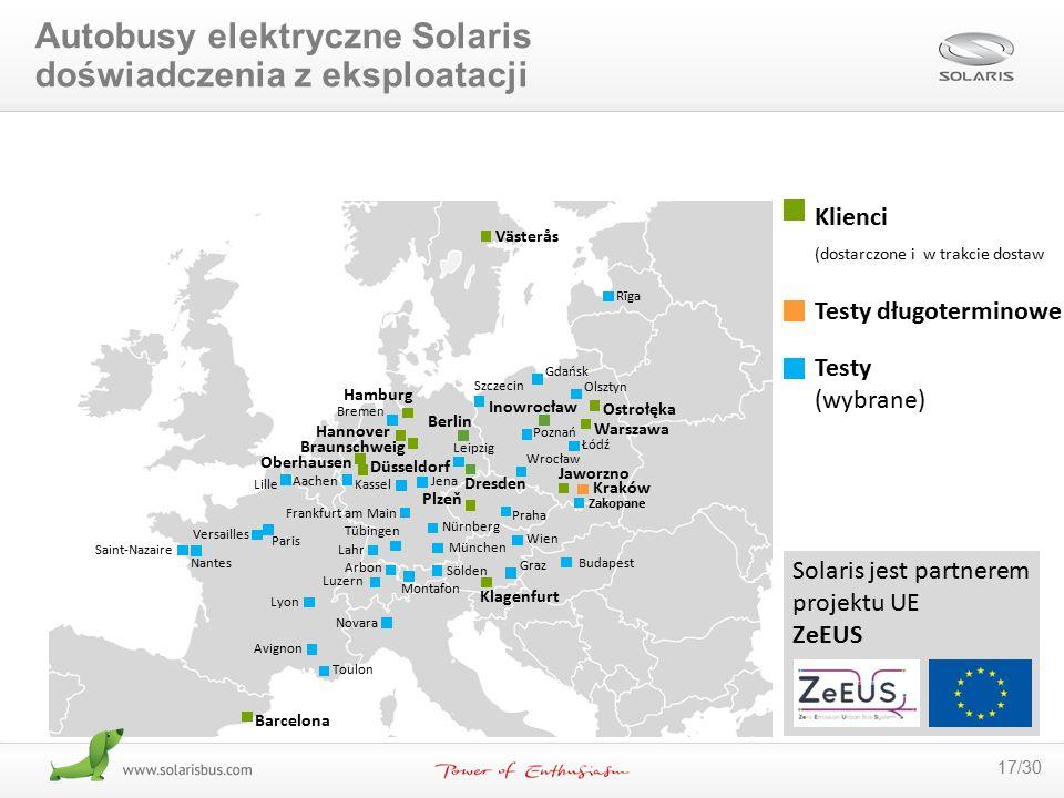 Autobusy elektryczne Solaris doświadczenia z eksploatacji
