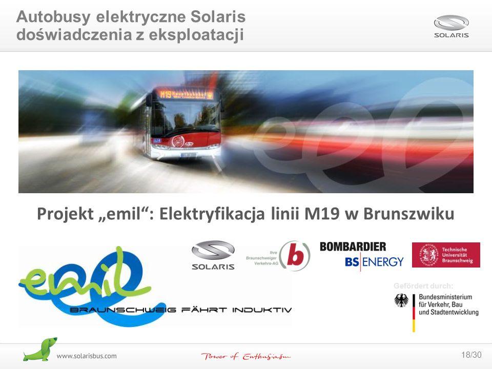 """Projekt """"emil : Elektryfikacja linii M19 w Brunszwiku"""