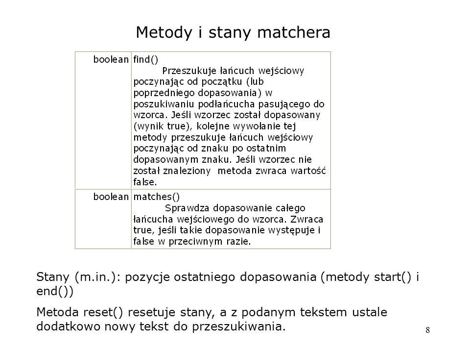 Metody i stany matchera