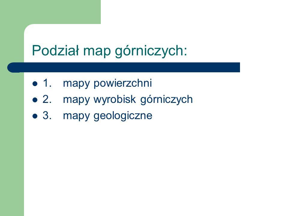 Podział map górniczych: