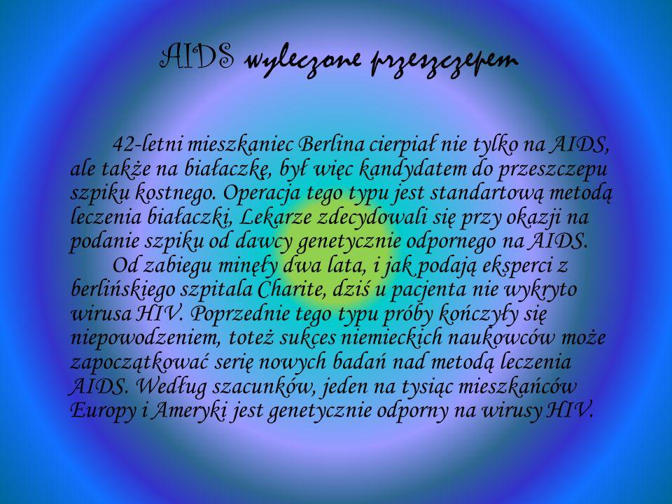 AIDS wyleczone przeszczepem