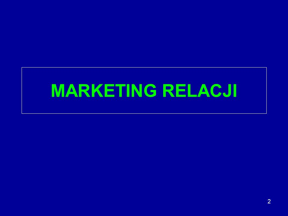 MARKETING RELACJI